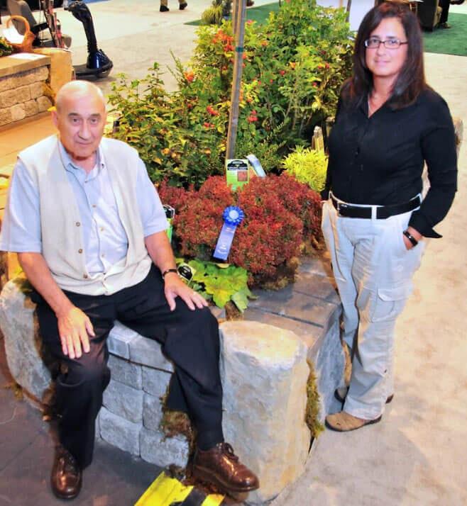 Maria with her father, Jim Zampini